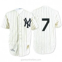 Mens Mitchell And Ness Mickey Mantle New York Yankees #7 Authentic White Throwback A592 Jersey