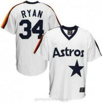 Mens Mitchell And Ness Nolan Ryan Houston Astros #34 Replica White Throwback A592 Jerseys