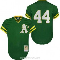 Mens Mitchell And Ness Rollie Fingers Oakland Athletics #34 Authentic Green Throwback A592 Jerseys