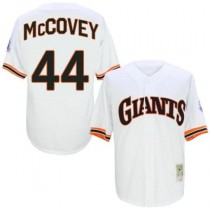 Mens Mitchell And Ness San Francisco Giants #44 Willie Mccovey Replica White 1989 Throwback Jersey