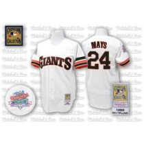 Mens Mitchell And Ness San Francisco Giants Willie Mays Replica White 1989 Throwback Jersey