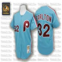 Mens Mitchell And Ness Steve Carlton Philadelphia Phillies Replica Blue Throwback A592 Jersey