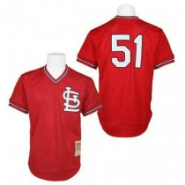 Mens Mitchell And Ness Willie Mcgee St Louis Cardinals #51 Red 1985 Throwback A592 Jersey Replica