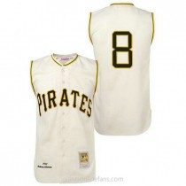 Mens Mitchell And Ness Willie Stargell Pittsburgh Pirates #8 Authentic Cream 1960 Throwback A592 Jersey