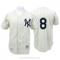 Mens Mitchell And Ness Yogi Berra New York Yankees #8 Authentic White Throwback A592 Jerseys