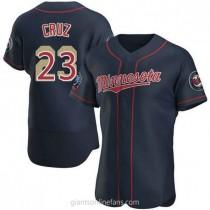 Mens Nelson Cruz Minnesota Twins #23 Authentic Navy Alternate 60th Season A592 Jersey