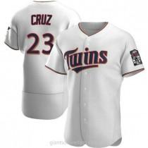 Mens Nelson Cruz Minnesota Twins #23 Authentic White Home A592 Jersey