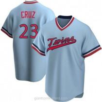 Mens Nelson Cruz Minnesota Twins #23 Replica Light Blue Road Cooperstown Collection A592 Jerseys