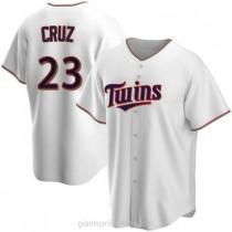 Mens Nelson Cruz Minnesota Twins #23 Replica White Home A592 Jersey