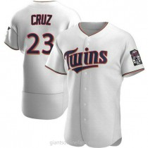 Mens Nelson Cruz Minnesota Twins Authentic White Home A592 Jersey