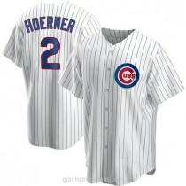 Mens Nico Hoerner Chicago Cubs Replica White Home A592 Jersey
