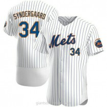 Mens Noah Syndergaard New York Mets #34 Authentic White Home A592 Jersey