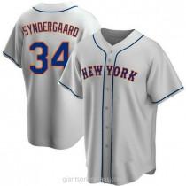 Mens Noah Syndergaard New York Mets #34 Replica Gray Road A592 Jerseys