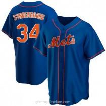 Mens Noah Syndergaard New York Mets #34 Replica Royal Alternate A592 Jerseys