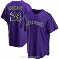 Mens Nolan Arenado Colorado Rockies #28 Replica Purple Alternate A592 Jersey
