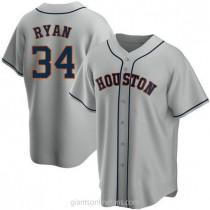 Mens Nolan Ryan Houston Astros #34 Replica Gray Road A592 Jersey