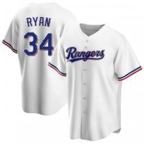 Mens Nolan Ryan Texas Rangers #34 Replica White Home A592 Jersey
