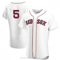 Mens Nomar Garciaparra Boston Red Sox #5 Authentic White Home Team A592 Jersey