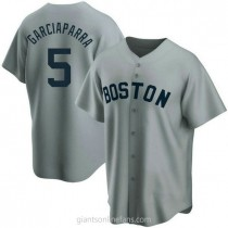 Mens Nomar Garciaparra Boston Red Sox #5 Replica Gray Road Cooperstown Collection A592 Jersey