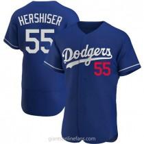 Mens Orel Hershiser Los Angeles Dodgers #55 Authentic Royal Alternate A592 Jersey