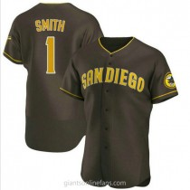 Mens Ozzie Smith Ozzie Smith San Diego Padres #1 Authentic Brown Road A592 Jersey