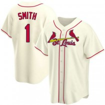 Mens Ozzie Smith St Louis Cardinals #1 Cream Alternate A592 Jerseys Replica