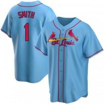 Mens Ozzie Smith St Louis Cardinals Light Blue Alternate A592 Jersey Replica