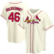 Mens Paul Goldschmidt St Louis Cardinals #46 Gold Cream Alternate A592 Jerseys Replica
