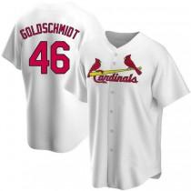 Mens Paul Goldschmidt St Louis Cardinals #46 Gold White Home A592 Jerseys Replica