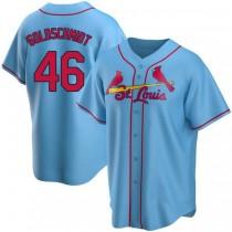 Mens Paul Goldschmidt St Louis Cardinals #46 Light Blue Alternate A592 Jersey Replica