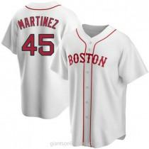 Mens Pedro Martinez Boston Red Sox #45 Replica White Alternate A592 Jersey