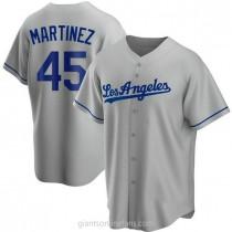 Mens Pedro Martinez Los Angeles Dodgers #45 Replica Gray Road A592 Jersey