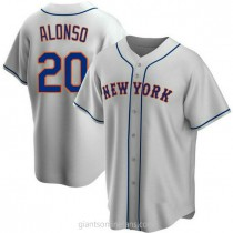 Mens Pete Alonso New York Mets #20 Replica Gray Road A592 Jersey