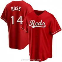 Mens Pete Rose Cincinnati Reds #14 Replica Red Alternate A592 Jerseys
