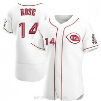 Mens Pete Rose Cincinnati Reds Authentic White Home A592 Jersey