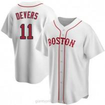 Mens Rafael Devers Boston Red Sox #11 Replica White Alternate A592 Jersey