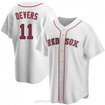 Mens Rafael Devers Boston Red Sox #11 Replica White Home A592 Jerseys