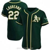 Mens Ramon Laureano Oakland Athletics #22 Authentic Green Alternate A592 Jerseys
