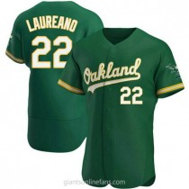 Mens Ramon Laureano Oakland Athletics #22 Authentic Green Kelly Alternate A592 Jersey