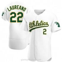 Mens Ramon Laureano Oakland Athletics #22 Authentic White Home A592 Jersey