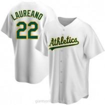 Mens Ramon Laureano Oakland Athletics Replica White Home A592 Jersey