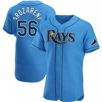 Mens Randy Arozarena Tampa Bay Rays #56 Authentic Light Blue Alternate A592 Jersey