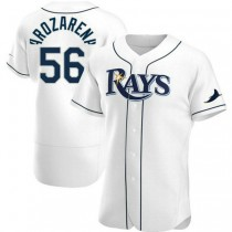 Mens Randy Arozarena Tampa Bay Rays #56 Authentic White Home A592 Jerseys