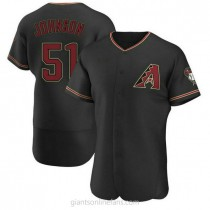 Mens Randy Johnson Arizona Diamondbacks #51 Authentic Black Alternate A592 Jersey