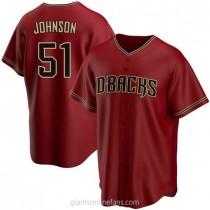 Mens Randy Johnson Arizona Diamondbacks #51 Replica Red Alternate A592 Jerseys