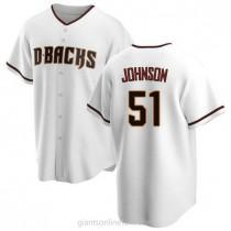 Mens Randy Johnson Arizona Diamondbacks #51 Replica White Home A592 Jerseys