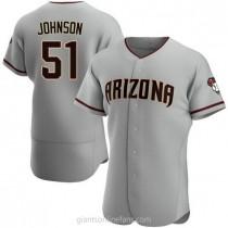Mens Randy Johnson Arizona Diamondbacks Authentic Gray Road A592 Jersey