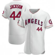 Mens Reggie Jackson Los Angeles Angels Of Anaheim #44 Authentic White A592 Jersey
