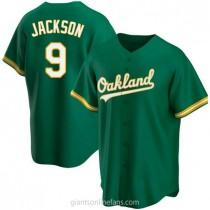 Mens Reggie Jackson Oakland Athletics #9 Replica Green Kelly Alternate A592 Jersey