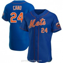 Mens Robinson Cano New York Mets #24 Authentic Royal Alternate A592 Jersey